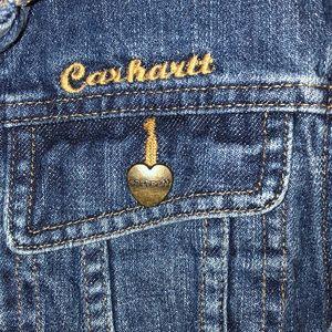 Girls Carhartt jeans jacket size 10